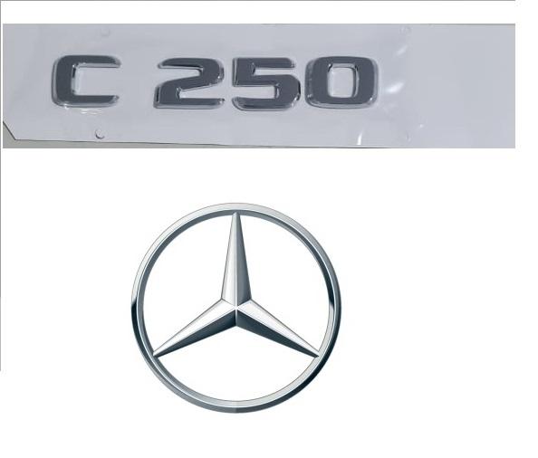 Emblema Tampa Traseira C250 C 250 Mercedes benz  - Só Frisos Ltda