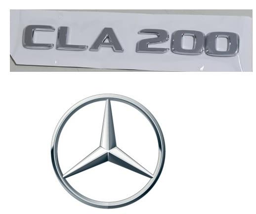Emblema Tampa Traseira CLA200 CLA 200 Mercedes benz  - Só Frisos Ltda