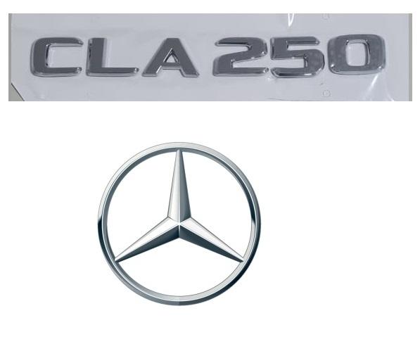 Emblema Tampa Traseira CLA250 CLA 250 Mercedes benz  - Só Frisos Ltda