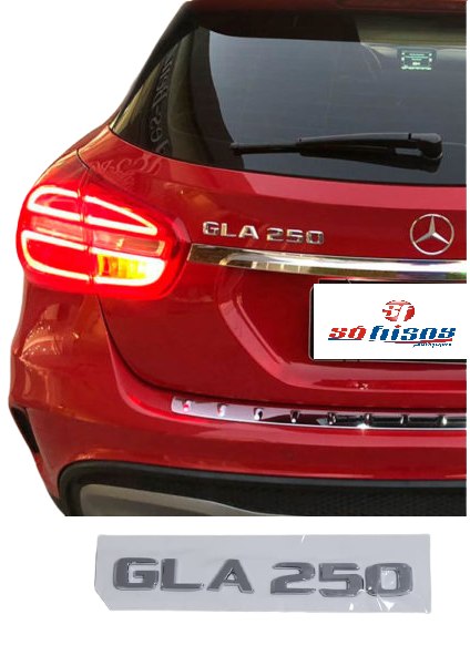 Emblema Tampa Traseira GLA250 GLA 250 Mercedes benz  - Só Frisos Ltda