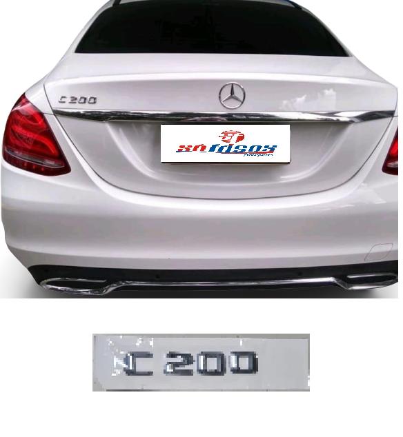 Emblema Tampa Traseira Mercedes Benz C200 C 200  - Só Frisos Ltda