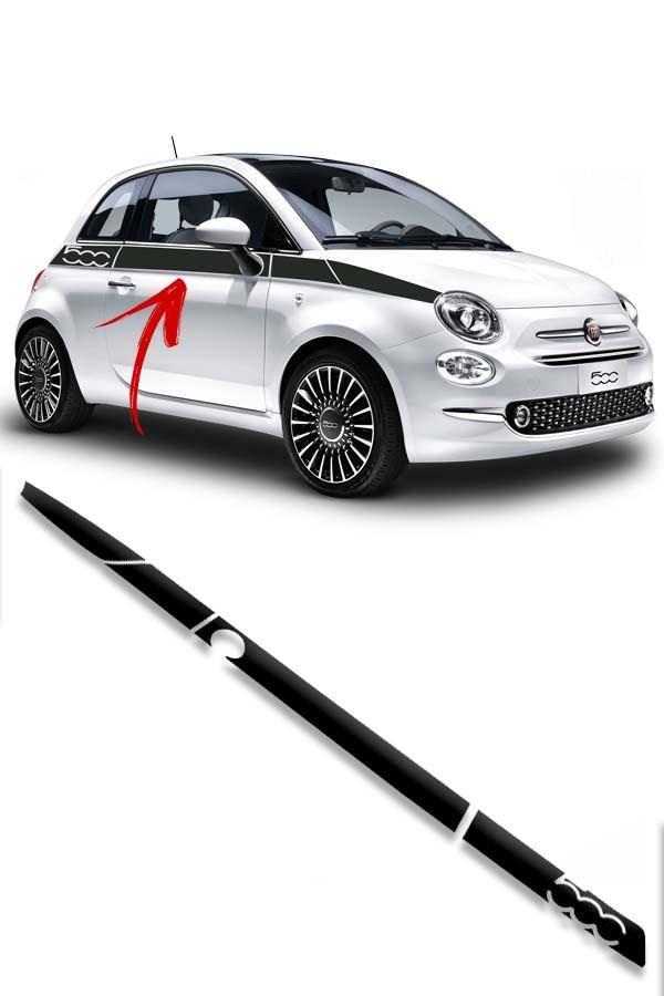 """Faixa Adesiva """"500"""" Fiat 500  - Só Frisos Ltda"""