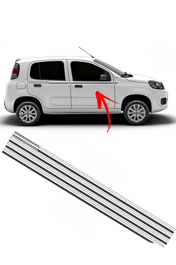 "Faixa Adesiva ""Cintura"" Fiat Uno Podium  - Só Frisos Ltda"