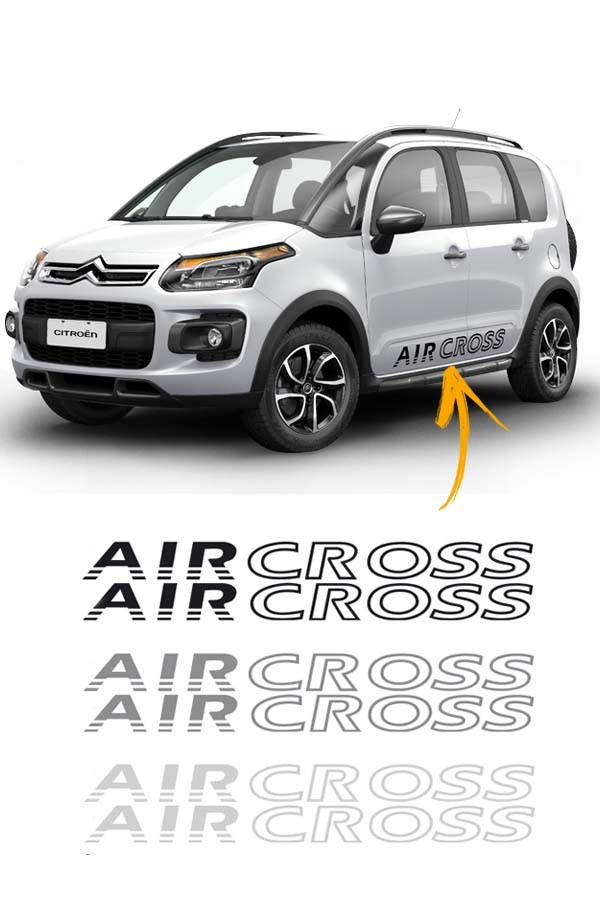 Faixa Adesiva Lateral Citroen Air Cross