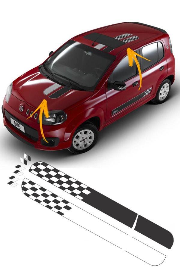 Faixa Adesiva Teto Fiat Uno Podium  - Só Frisos Ltda