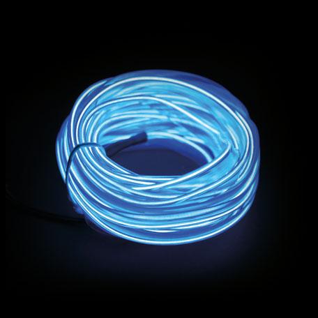 Fita Led Neon p/ Interior Painel Carro 5 metros  - Só Frisos Ltda