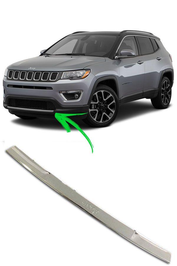Friso Cromado Para-Choque Dianteiro Jeep Compass  - Só Frisos Ltda