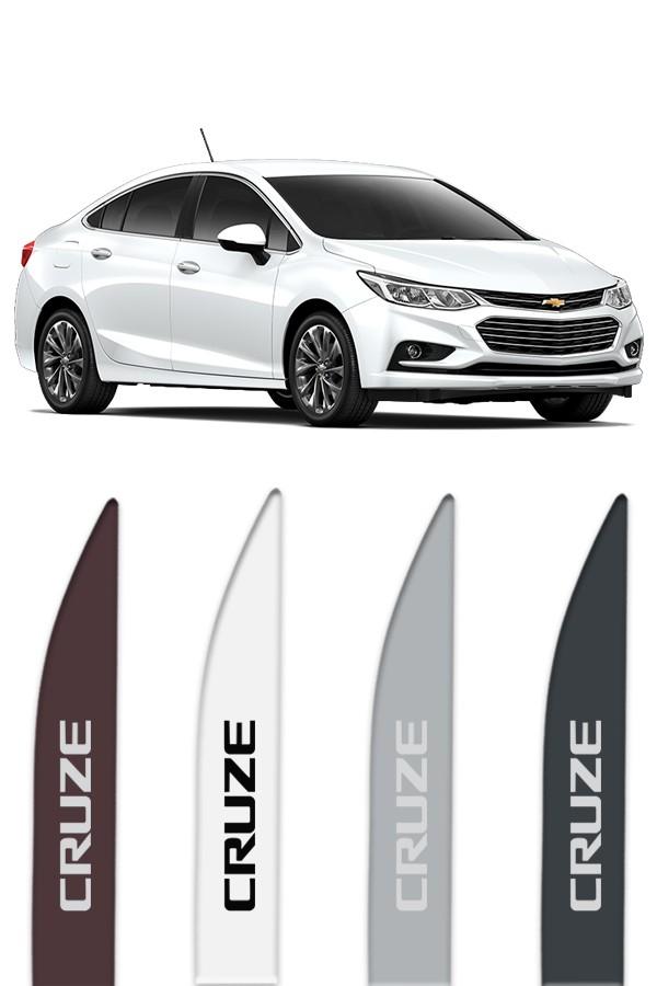 """Friso Lateral Personalizado Modelo """"Ponta Faca"""" Chevrolet Cruze   - Só Frisos Ltda"""