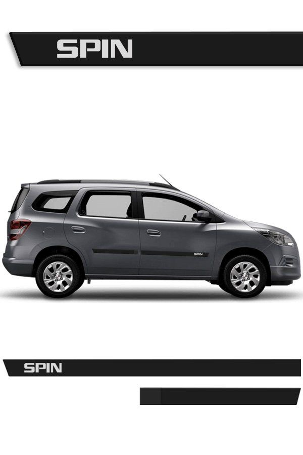 Friso Lateral Injetado Chevrolet Spin 2012/...  - Só Frisos Ltda