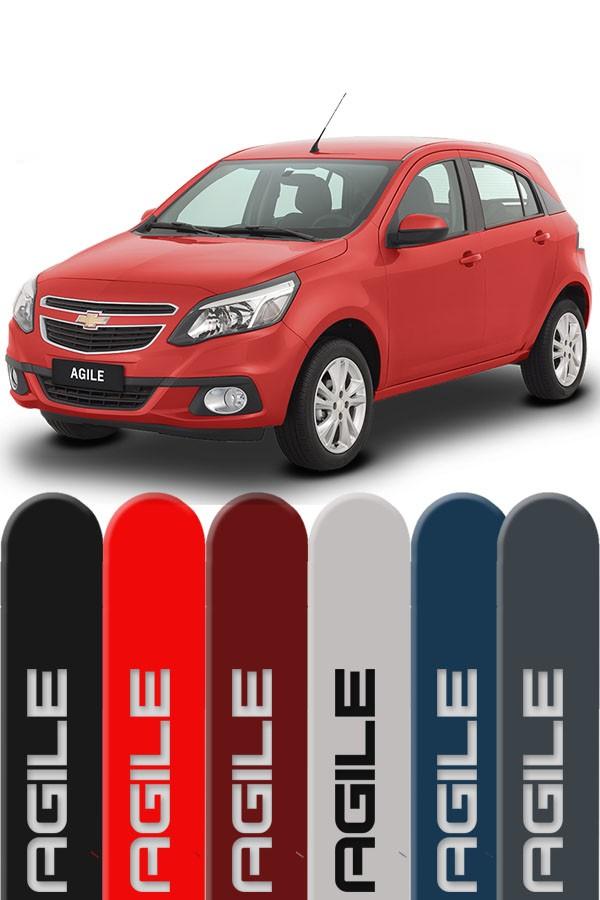 Friso Lateral Personalizado Chevrolet Agile  - Só Frisos Ltda