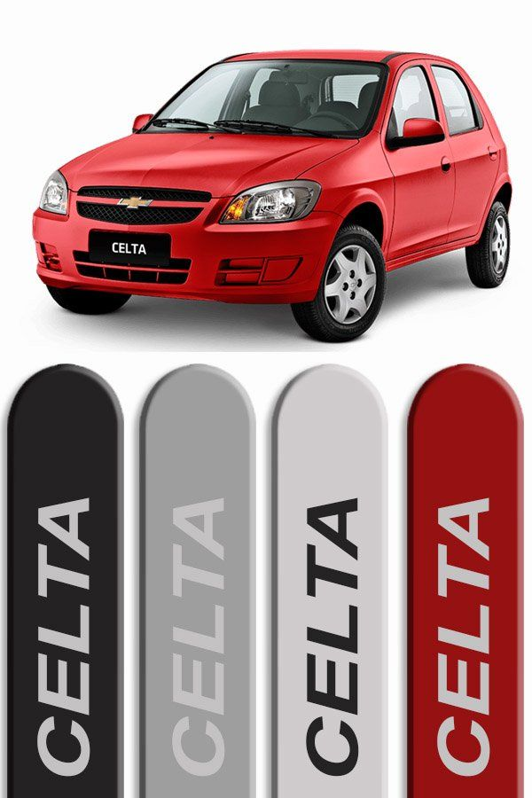 Friso Lateral Personalizado Chevrolet Celta  - Só Frisos Ltda