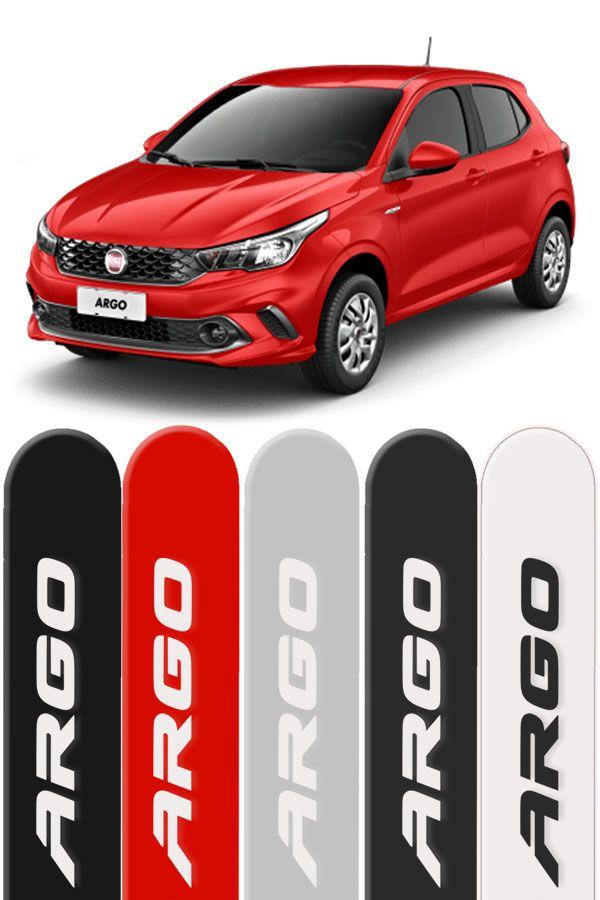 Friso Lateral Personalizado Fiat Argo Vermelho Alpine  - Só Frisos Ltda