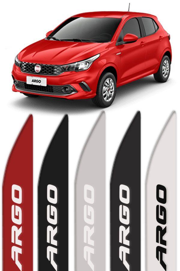 Friso Lateral Personalizado Fiat Argo Vermelho  - Só Frisos Ltda