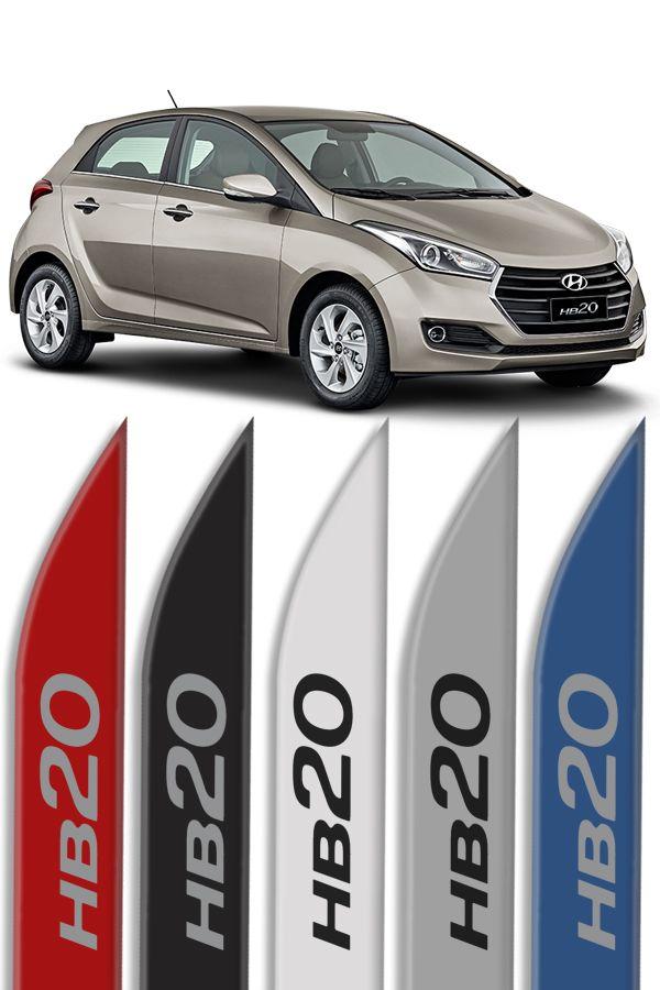 """Friso Lateral Personalizado Modelo """"Faca"""" Hyundai HB20  - Só Frisos Ltda"""