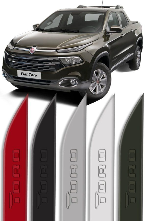 """Friso Lateral Personalizado """"Modelo Faca"""" Fiat Toro Baixo Relevo  - Só Frisos Ltda"""
