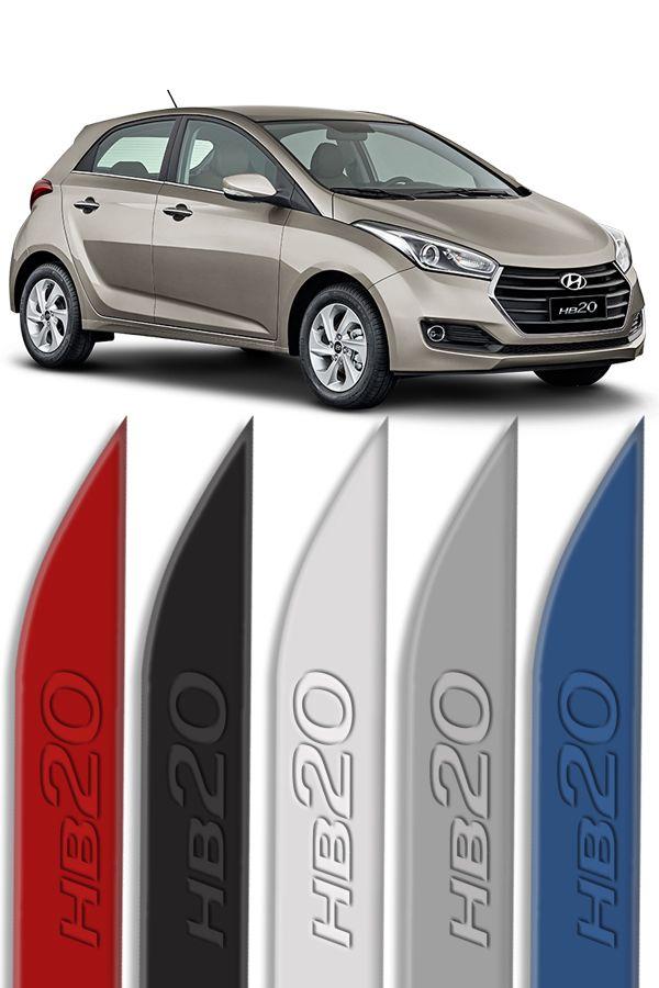 """Friso Lateral Personalizado """"Modelo Faca"""" Hyundai HB20 Baixo Relevo  - Só Frisos Ltda"""