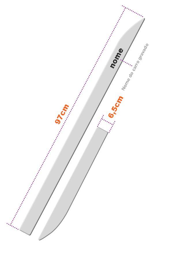 """Friso Lateral Personalizado """"Modelo Faca"""" Hyundai IX35  - Só Frisos Ltda"""