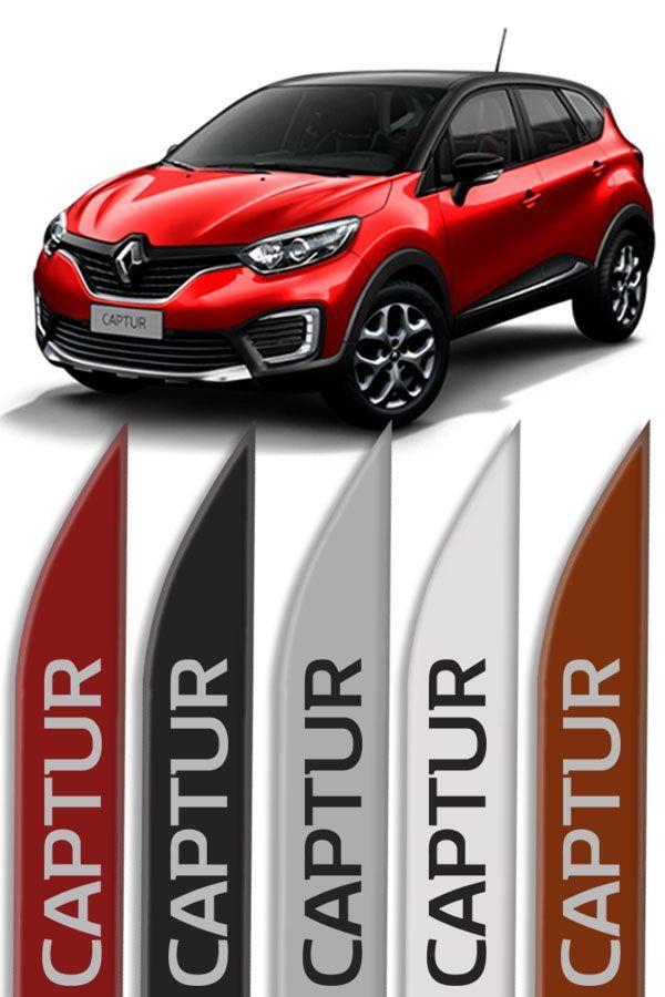 "Friso Lateral Personalizado ""Modelo Faca"" Renault Captur  - Só Frisos Ltda"