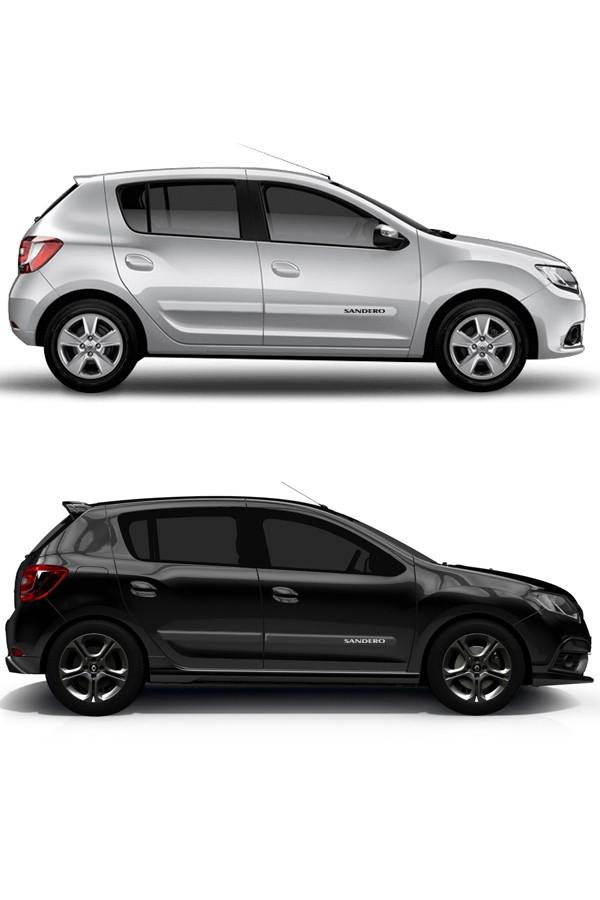 Friso Lateral Renault Sandero  - Só Frisos Ltda