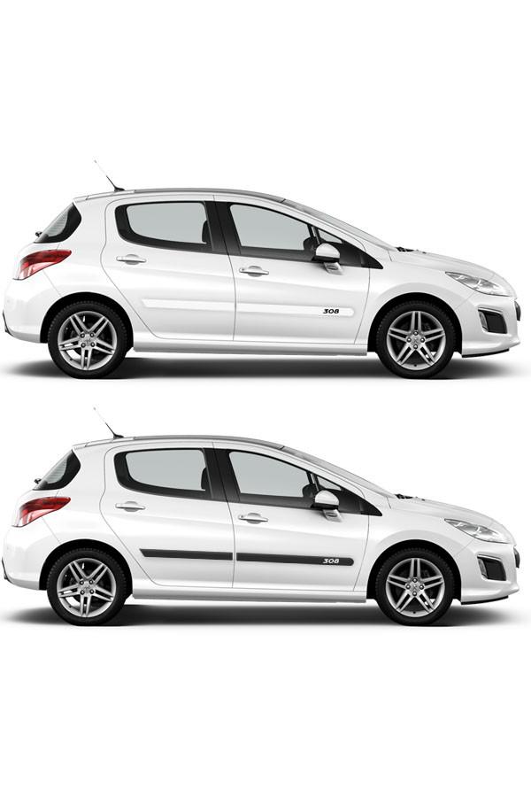 Friso Lateral Personalizado Peugeot 308  - Só Frisos Ltda