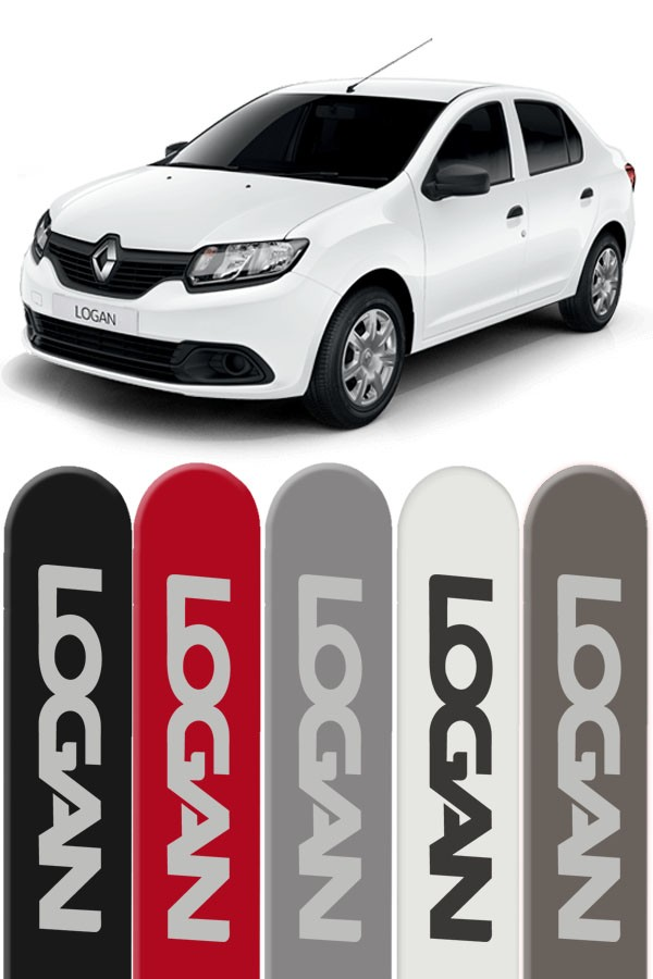 Friso Lateral Personalizado Renault Logan  - Só Frisos Ltda