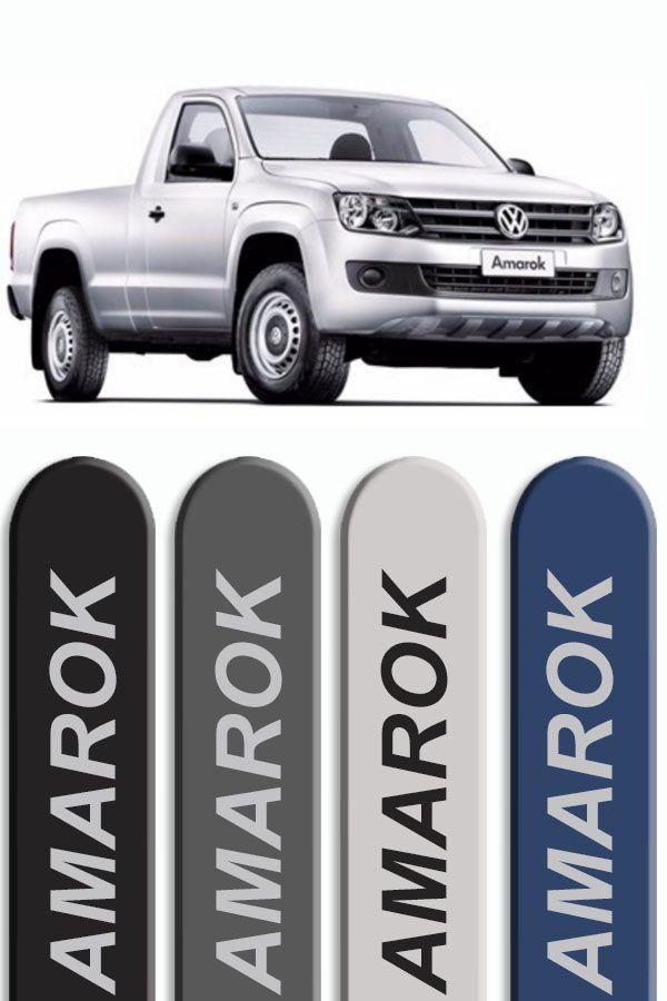 Friso Lateral Personalizado Volkswagen Amarok CS 2p  - Só Frisos Ltda