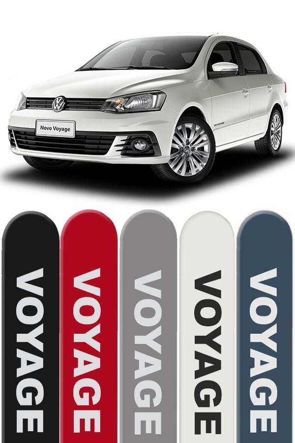 Friso Lateral Personalizado Volkswagen Voyage 2009/...  - Só Frisos Ltda