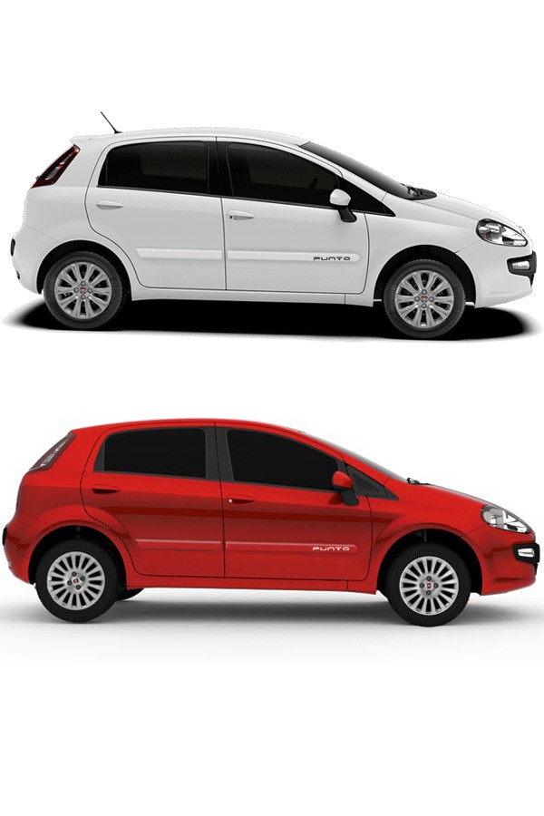 Friso Lateral Personalizando Fiat Punto 2013/...  - Só Frisos Ltda