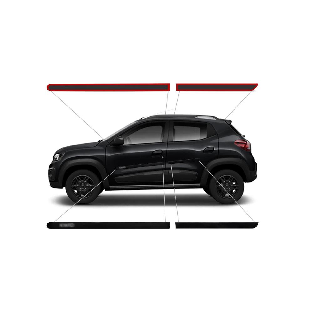 Friso Lateral Renault Kwid  - Só Frisos Ltda