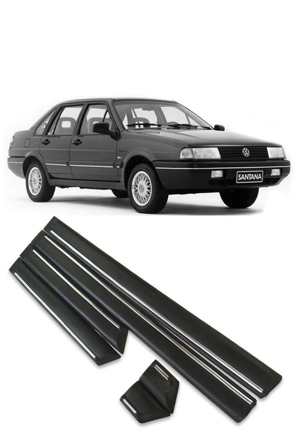 Friso Lateral Volkswagen Santana 1991 até 1994 4p (Preto e Cromado)  - Só Frisos Ltda