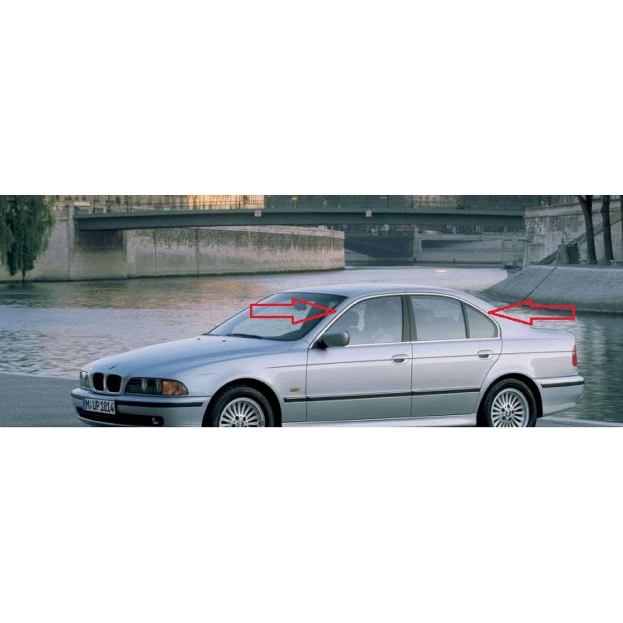 Friso Moldura da Porta Janela BMW E39 Serie 5 Dianteira Esquerda  - Só Frisos Ltda