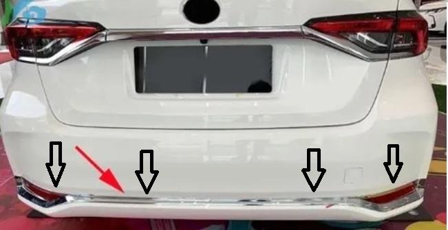 Kit Aplique Cromado Parachoque Traseiro Corolla 2020 2021  - Só Frisos Ltda