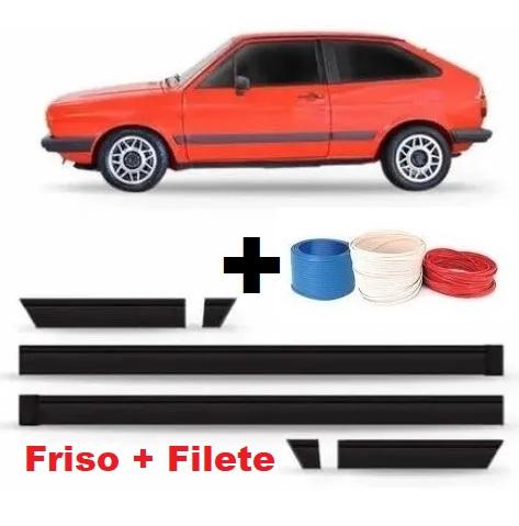 Kit de Friso Filete Lateral Gol Voyage Parati GL 84 85 86 87 + Filete  - Só Frisos Ltda