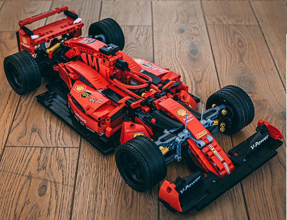 Kit Para Montar Miniatura Carro Ferrari Formula 1 tipo technic  - Só Frisos Ltda