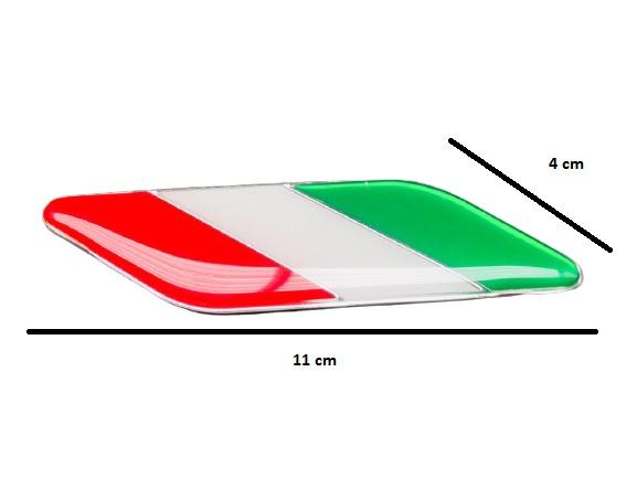 Par de Emblemas Badge Bandeira Italia Pequena  - Só Frisos Ltda