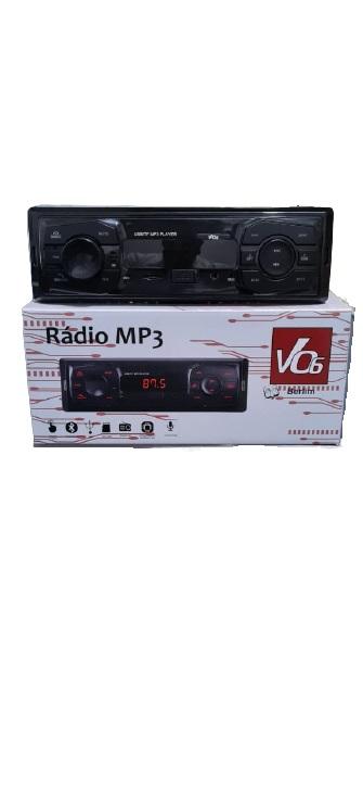Radio Som Automotivo Bluetooth Mp3 USB  - Só Frisos Ltda