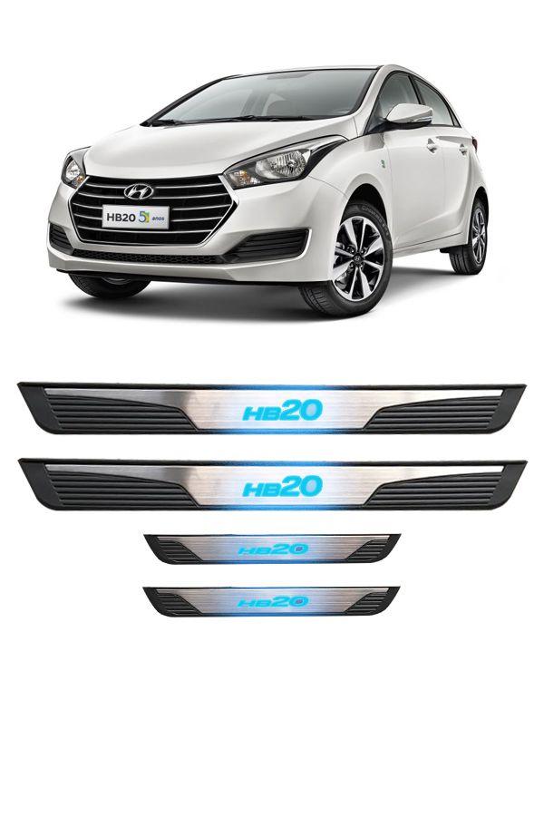 Soleira de Porta de LED Hyundai HB20  - Só Frisos Ltda