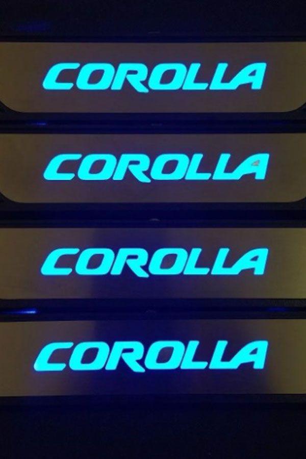 Soleira de Porta de LED Toyota Corolla  - Só Frisos Ltda