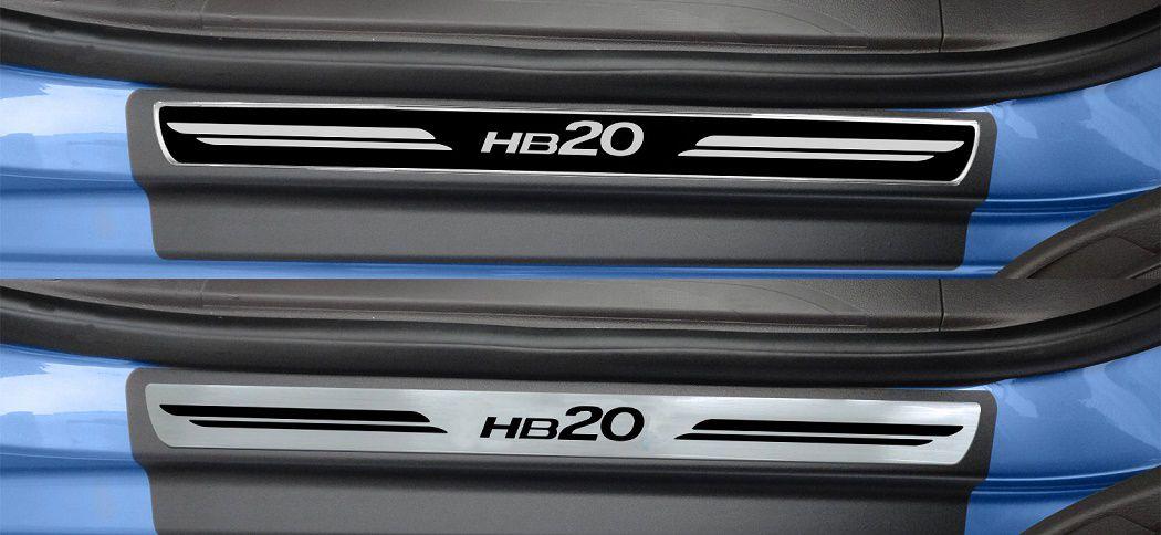Soleira De Porta Resinada Hyundai HB20  - Só Frisos Ltda