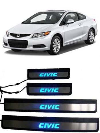 Soleira de Porta Led Honda Civic 2013 até 2015  - Só Frisos Ltda
