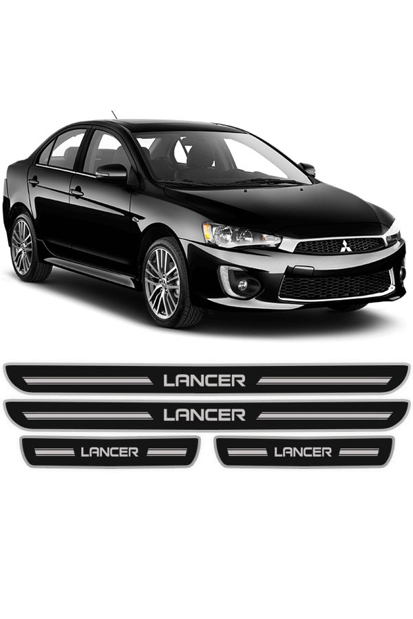 Soleira de Porta Resinada Mitsubishi Lancer  - Só Frisos Ltda