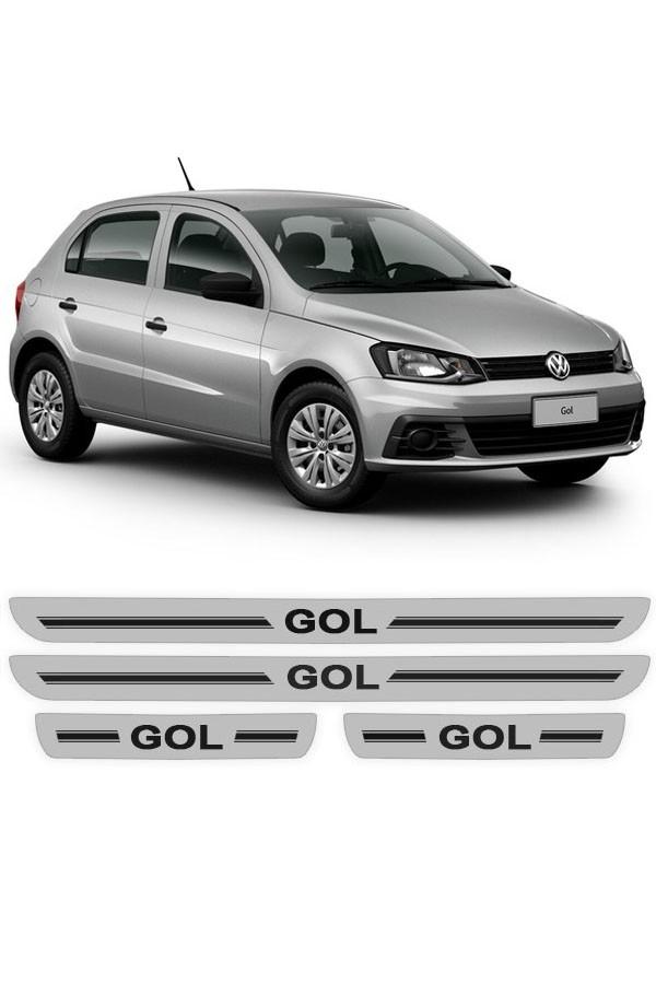 Soleira de Porta Resinada Volkswagen Gol 2015 até 2017  - Só Frisos Ltda