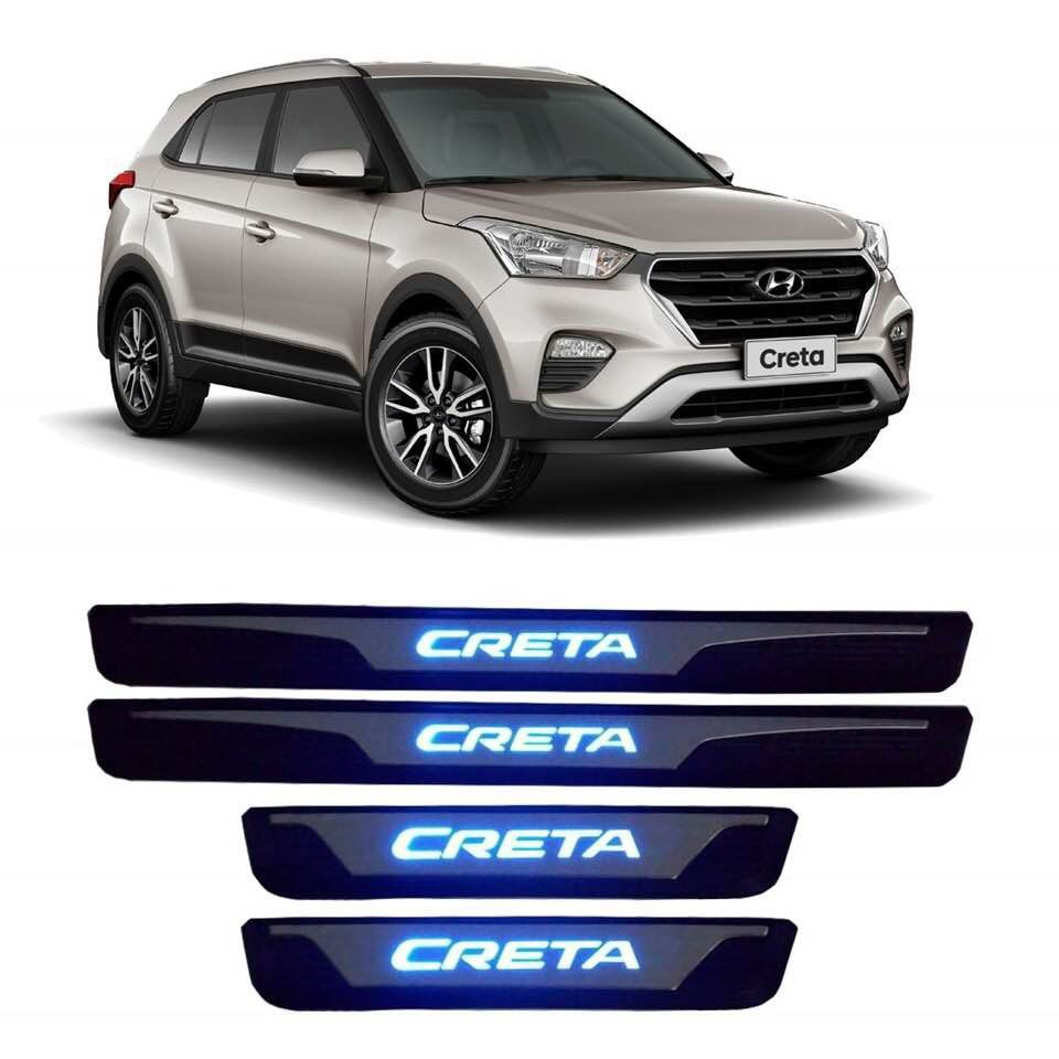 Soleira de Pota de LED Hyundai Creta  - Só Frisos Ltda
