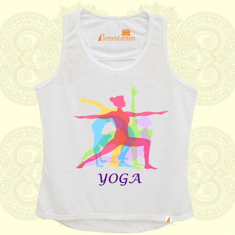 Camiseta Yoga Colorida