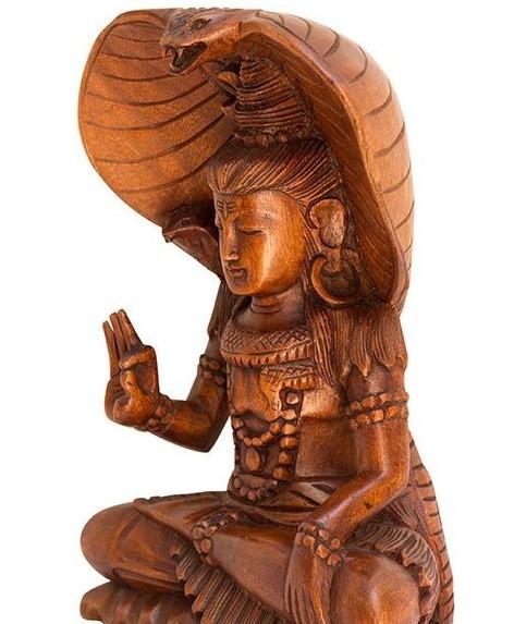 Estátua Shiva Bali Entalhada 30cm