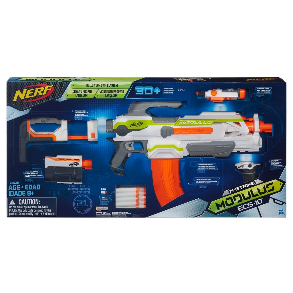 Lançador Nerf N Strike Modulus ECS - 10  - Hasbro