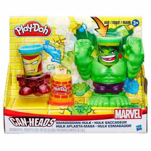 Massinha Play Doh Marvel - Hulk Esmaga - Vingadores - Hasbro  - Doce Diversão