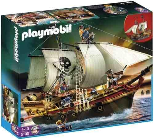 Playmobil - Navio de Ataque Pirata - 68 cm e 40 peças - Sunny
