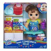 Boneca Baby Alive - Bebê Faminta Morena – Comidinha Feliz Fala Portugues- Hasbro