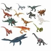 Conjunto Jurassic World 2 - Pacote C/ 15 Mini Dinossauros 10 cm – Mattel